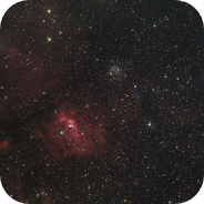 Bubble nebula and M52 widefield