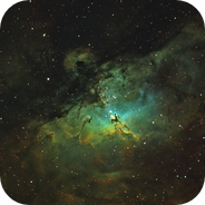 M16 in Hubble palette