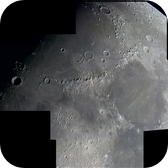 Moon Composite of the region Mare Imbrium / Mare Serenitatis.