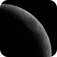 Imaging Crescent Moon with a 2x Barlow