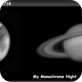 Mars & Saturn - My Monochrome night