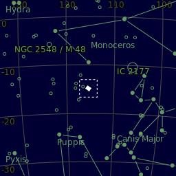 Skymap for Messier 46