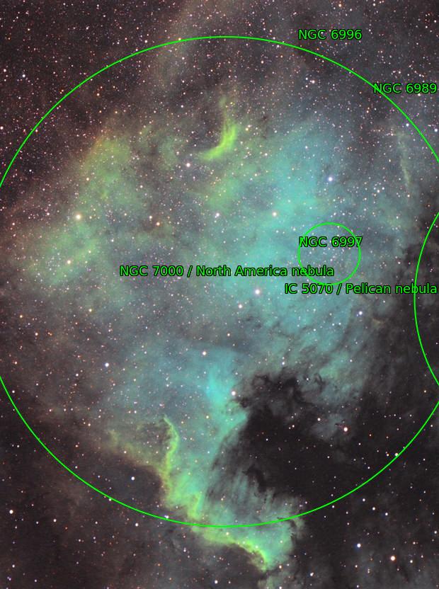 Ngc 7000 Hubble Palette Ha+OIII+SII