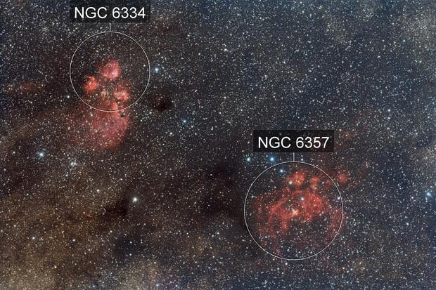 NGC6334 and NGC6357 Widefield
