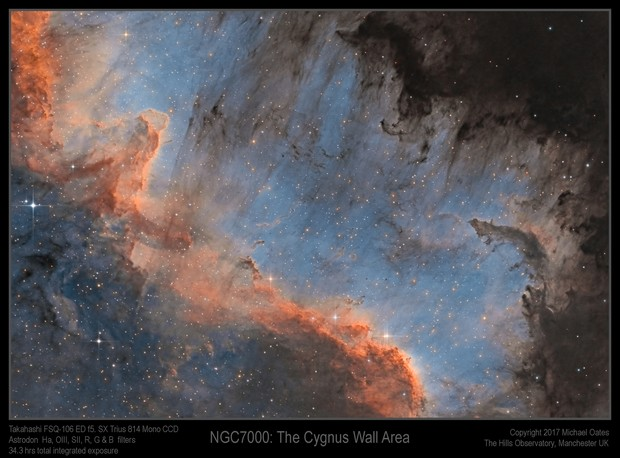 NGC7000 The Wall Area