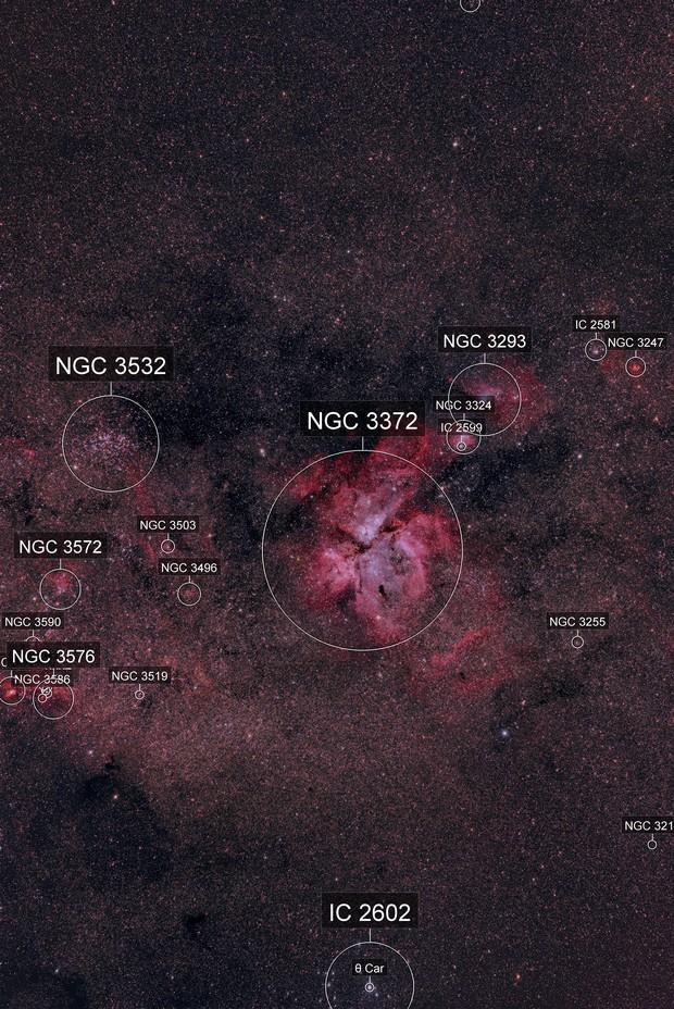 NGC 3372 / Carinae Nebula surrounding Eta Carinae