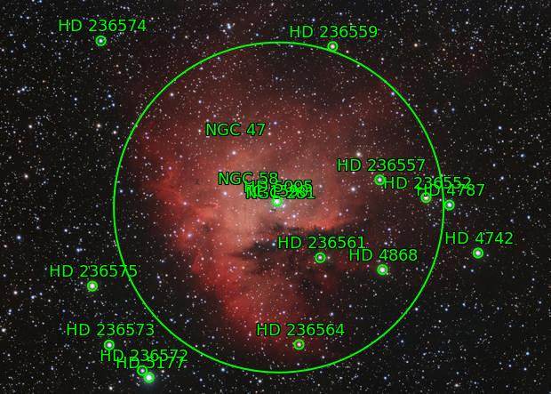Pacman Nebula, NGC 281