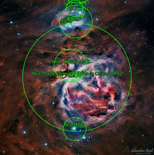 M42 Nébuleuse d'orion en HaRVB -