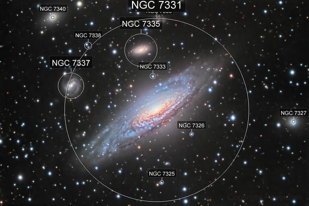 NGC7331 and Deer Lick Group