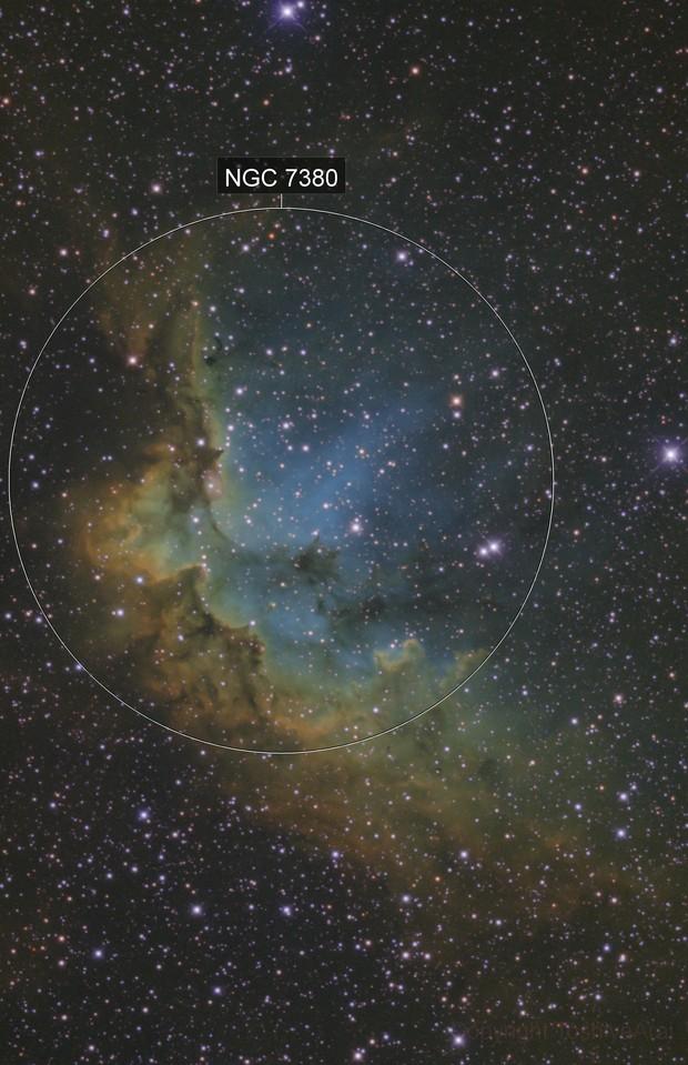 NGC 7380: The Wizard Nebula (HST Palette version)