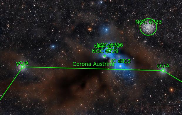 NGC 6726 NGC 6723