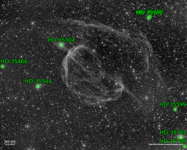Sh2-224. Supernova Remmant