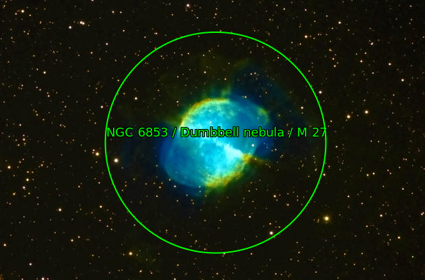 M27 Dumbbell Nebula Narrowband