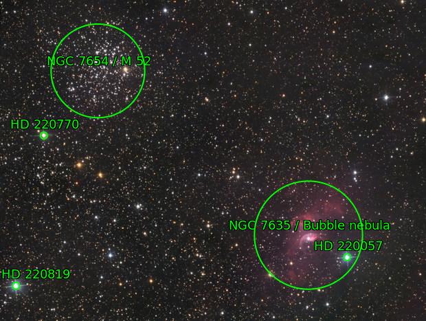 M52 and NGC 7635