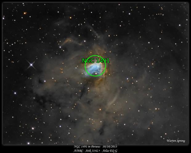 NGC 1491 in Perseus 10/10/2013