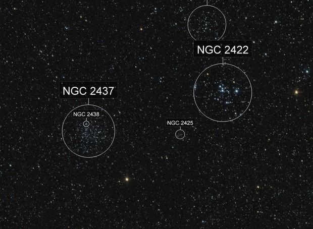 M46 & M47 Open Clusters Wide Field