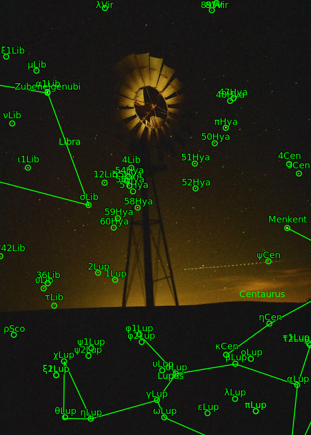 Old Timey Astrophoto - Windmill at Mushroom Rock State Park, KS (circa 2002)