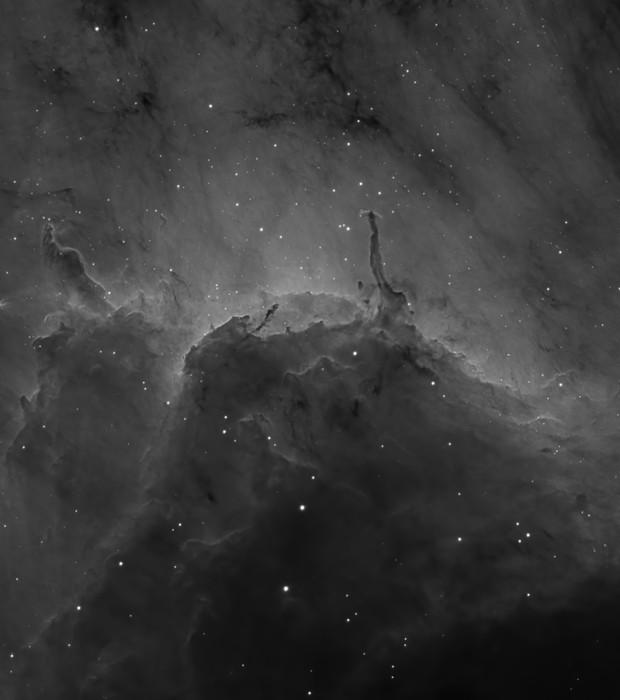 Pelican Nebula - H-alpha - detail