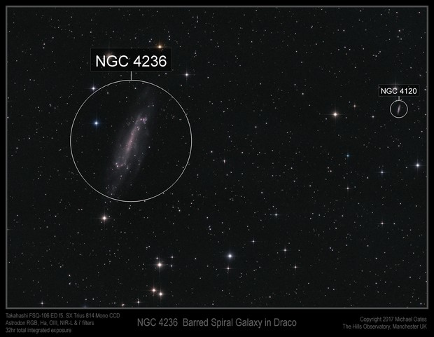 NGC 4236 Barred Spiral Galaxy in Draco