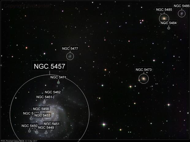 M101, Pinwheel Galaxy, LRGB, 12-13 Apr 2017