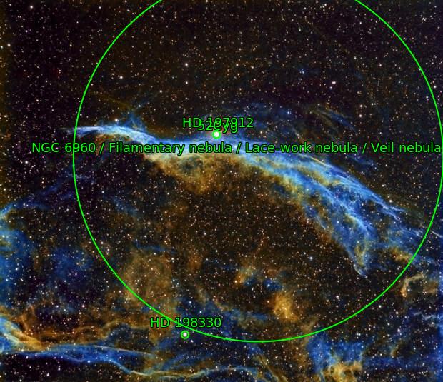 NGC 6960, West Veil nebula, Hubble Palette