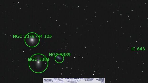 M105 / NGC 3384 & 3389