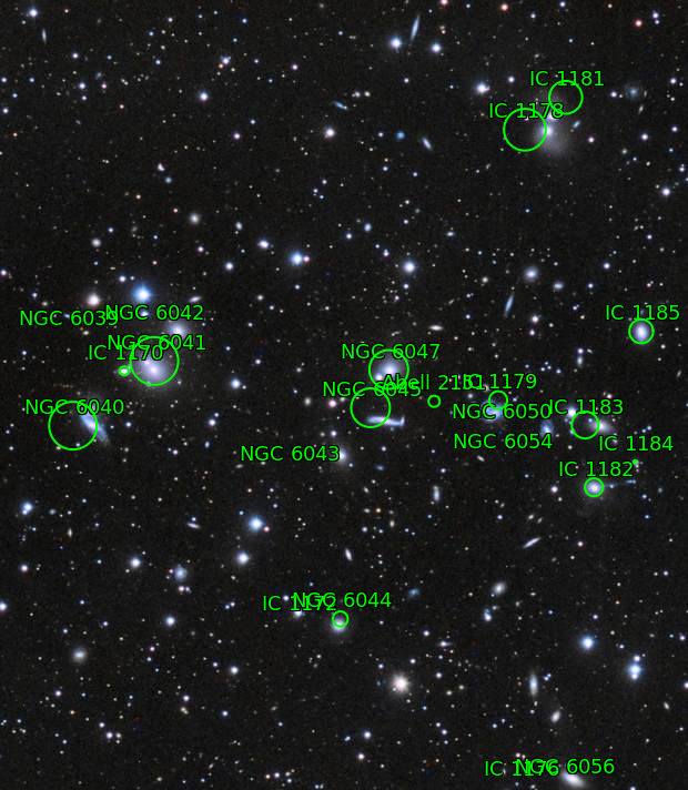 Abell 2151 Hercules galaxy cluster