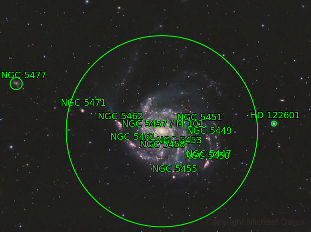 M101 & NGC 5477 (HaRGB)