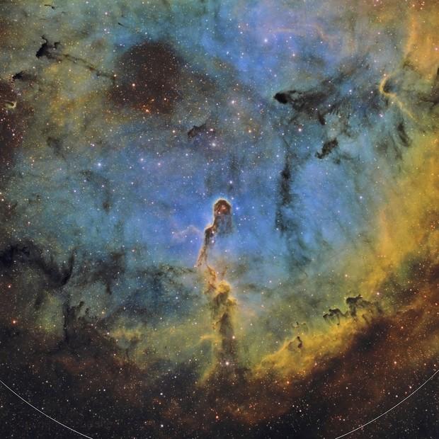 IC 1396 La nébuleuse de la trompe d'éléphant en SHO