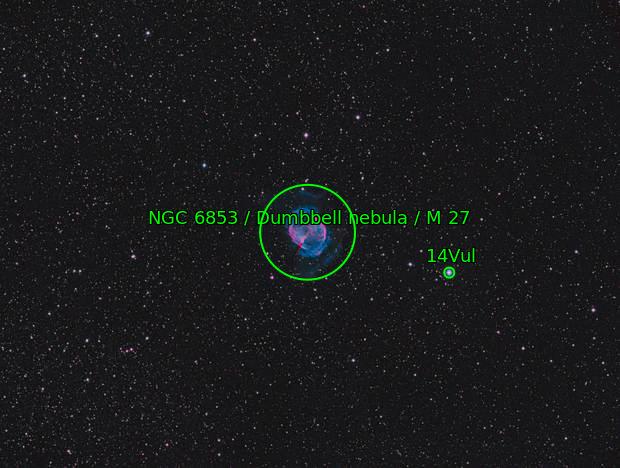 M27 sailing across an ocean of stars