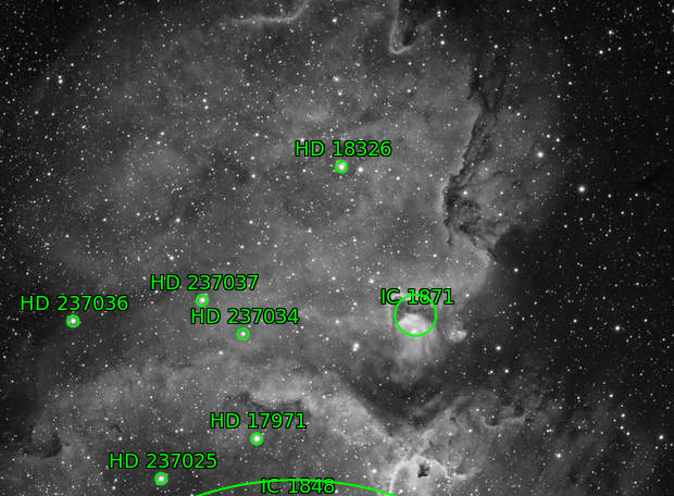 IC1848 head of Soul Nebula and IC1871