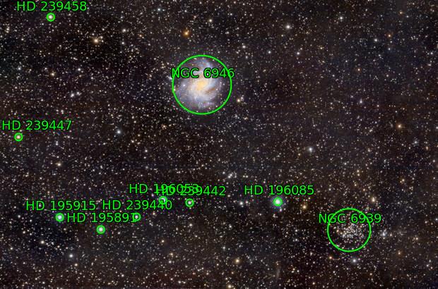 Fireworls Galaxy (NGC6939) and NCG6946