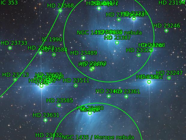 Pleiades - open cluster in Taurus