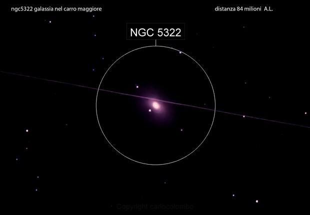 ngc5322 galassia nel carro maggiore                         distanza 84 milioni A.L.