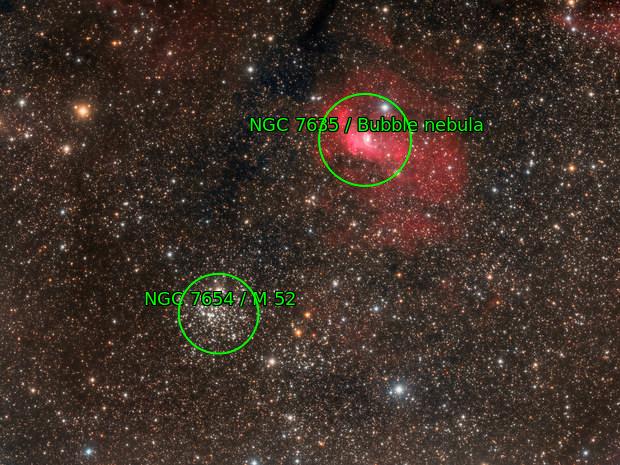 NGC7635 and M52