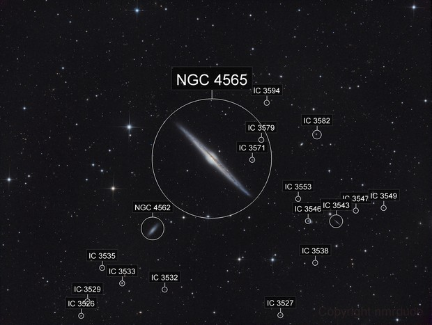 NGC 4565 with Newt 2015