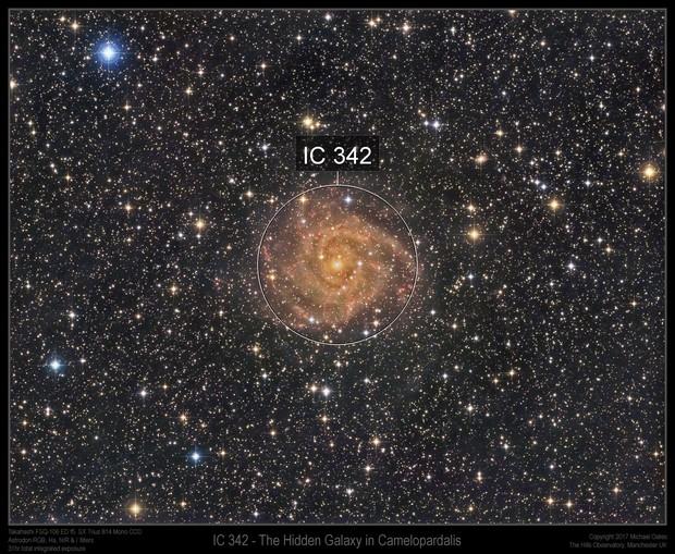 IC 342 (Hidden Galaxy in Camelopardalis)