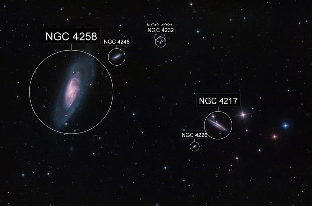 M 106&NGC 4217_Canes Venatici
