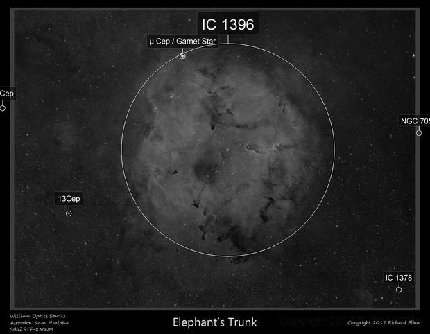 IC 1396, Elephant's Trunk nebula, 4 panel mosaic