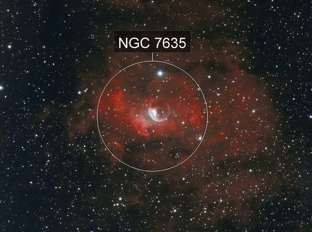 NGC 7635 en bi-couleur