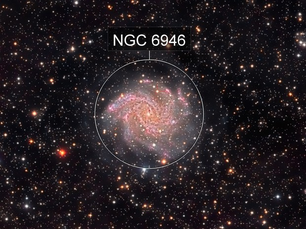 NGC 6946 Fireworks Galaxy and SN 2017eaw
