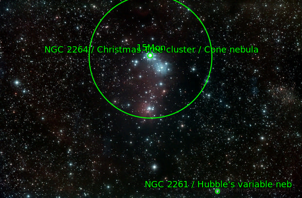 NGC2264 & NGC2261 / Christmas Tree Cluster, Cone Nebula & Hubble variable Nebula