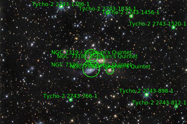 NGC 7317, NGC 7318A, NGC 7318B, NGC 7319, NGC 7320C (Stephan's Quintet)