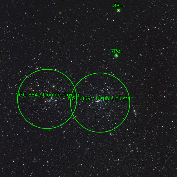 Double Cluster NGC 884 and NGC 869