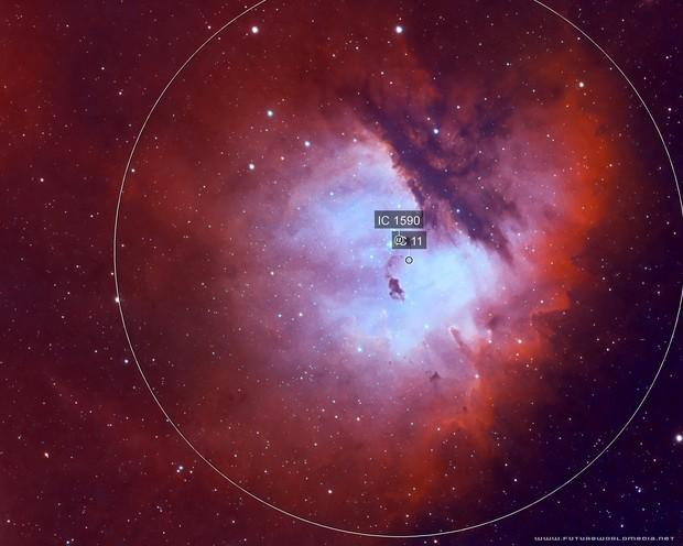 NGC 281 Pacman Nebula (Narrowband)
