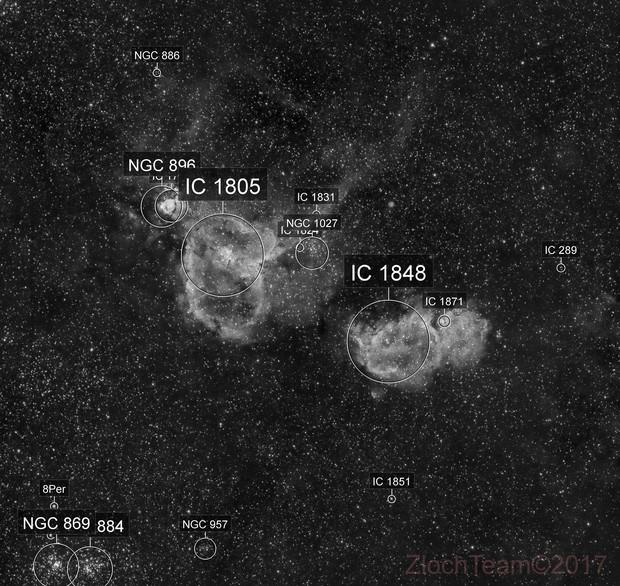 IC1805, IC1848 - La nébuleuse du coeur et celle de l'ame