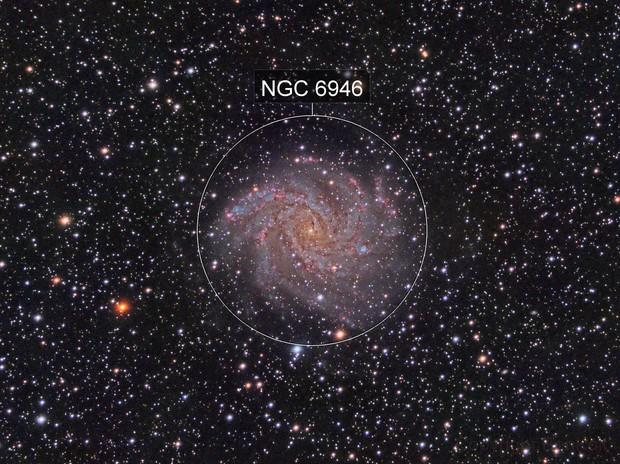 NGC 6946 - Fireworks Galaxy - SN 2017eaw