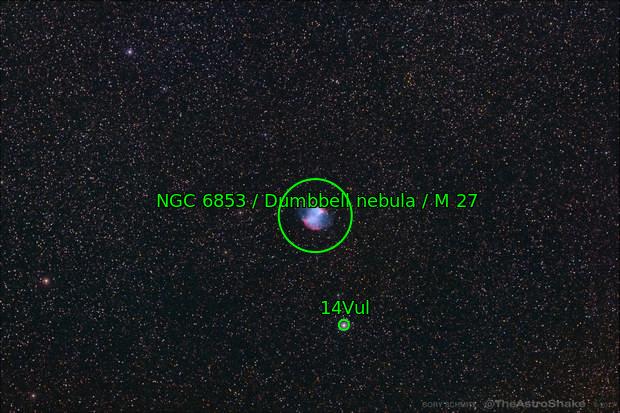 2013-06-07 Messier 27, Dumbbell Nebula