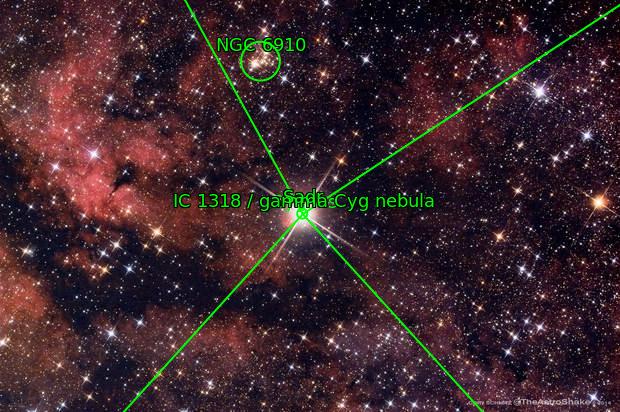 IC 1318, Sadr region of Cygnus