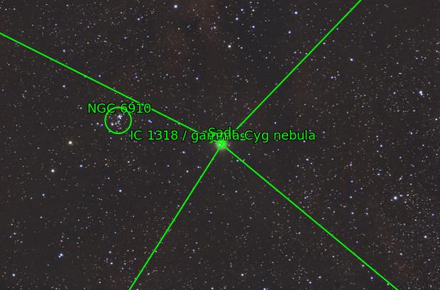 Sadr region in Cygnus